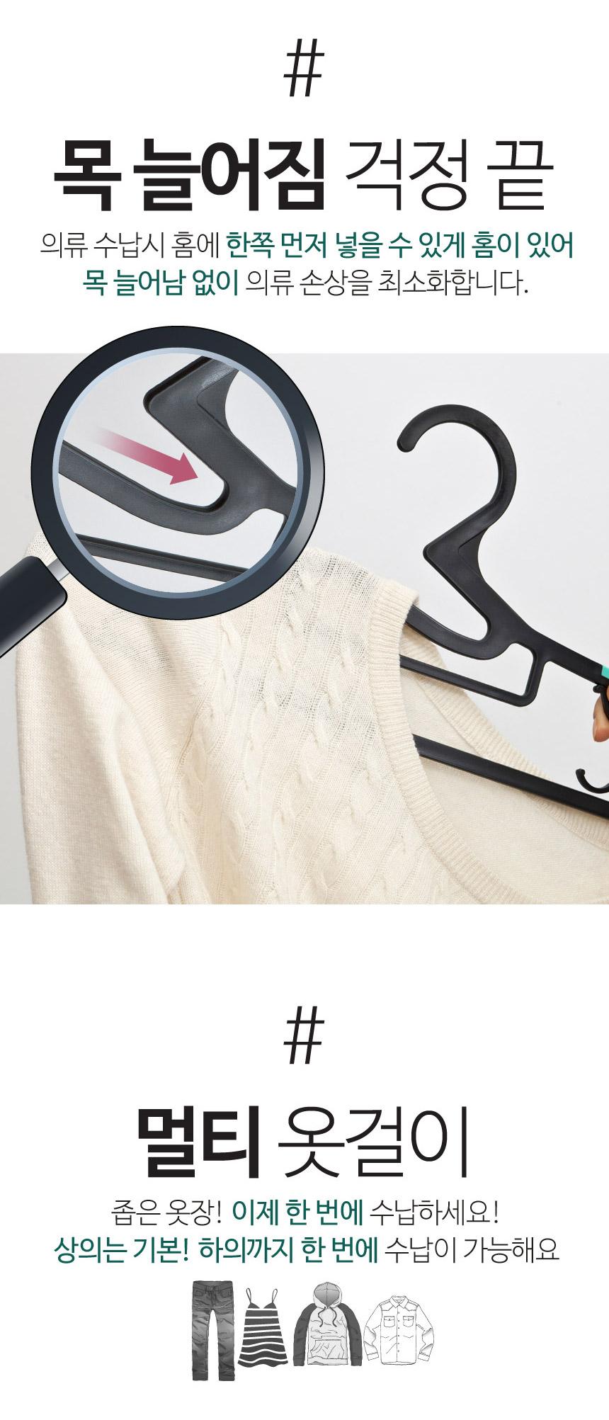 베이직 멀티 논슬립 옷걸이 50P - 더홈, 13,900원, 행거/드레스룸/옷걸이, 옷걸이/플라스틱